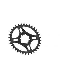C20 - 34T Narrow wide Elliptic Chainring for Sram direct dub  Black Anodized