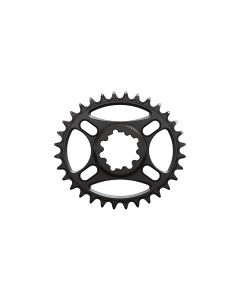 C21 - 32T Narrow wide Elliptic Chainring for Sram direct dub  Black Anodized