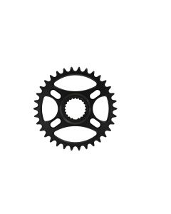 C22- 34T Narrow wide Chainring for Shimano direct Black Anodized