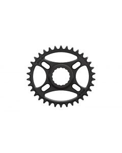 C27 - 34T Narrow wide Elliptic Chainring for Race Face direct Black Anodized
