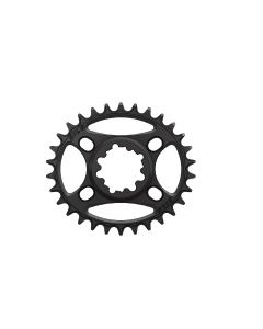 C39 - 30T Narrow wide Elliptic Chainring for Sram dub 3mm offset Black Anodized